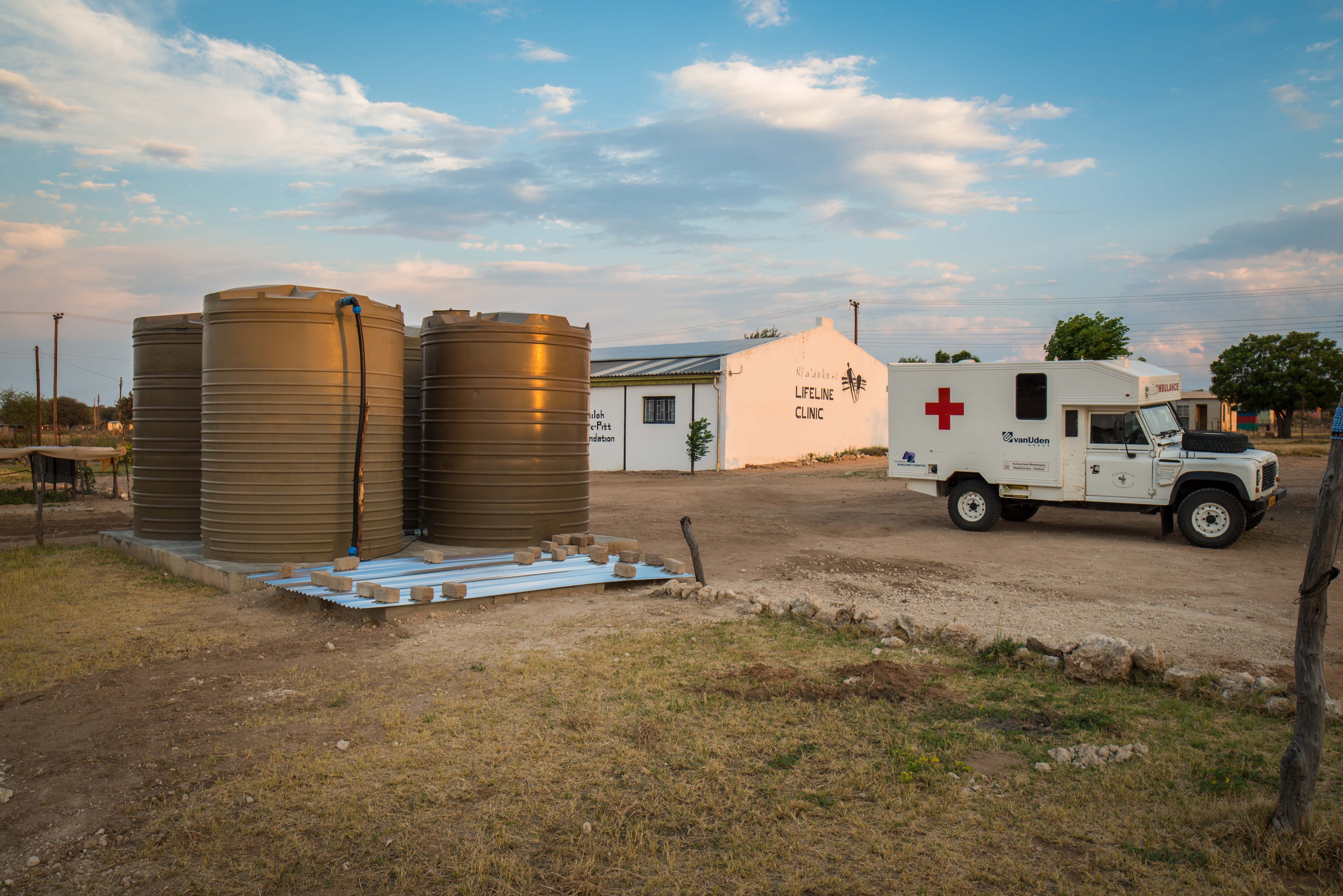 Sponsorships make all the difference: Rainwater harvesting helps the clinic to put money into medical needs, an ambulance that can go where it is needed - rural, isolated villages.