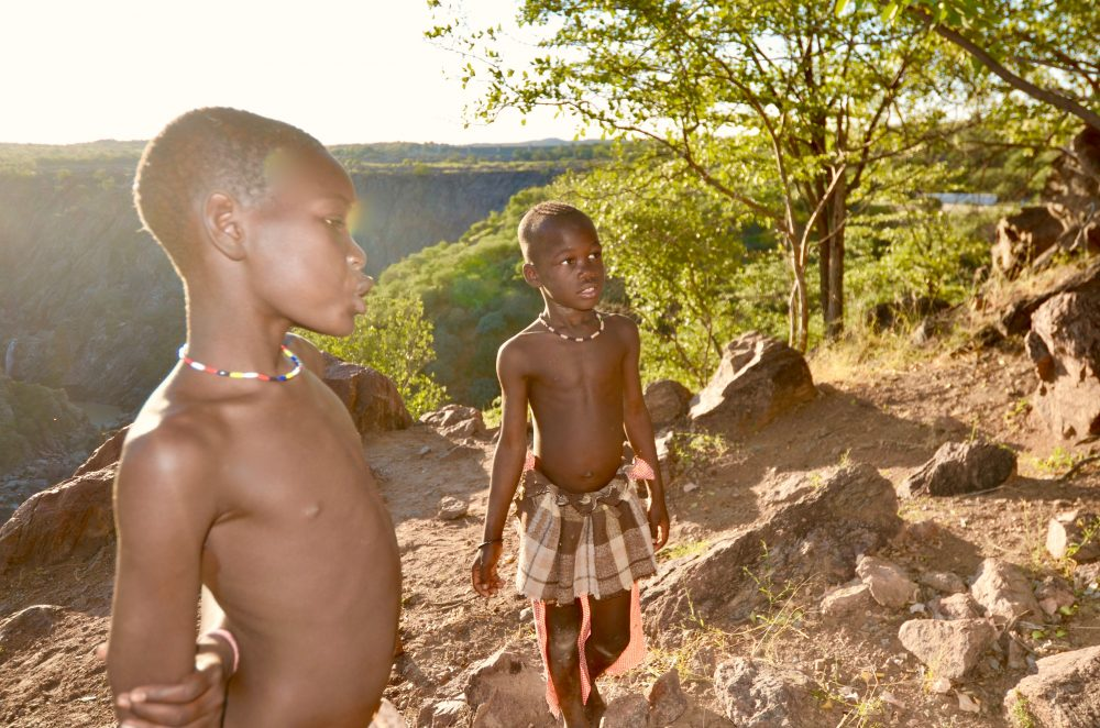 Himba children at Ruacana