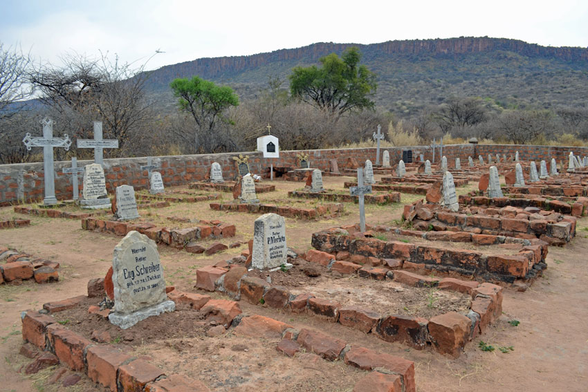 Graves at Waterberg Plateau Park. Photo ©Ron Swilling