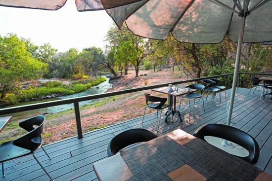 Dining terrace, Popa falls