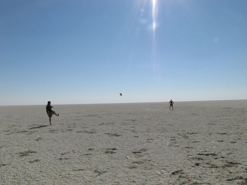 Playing rugby on the salt pan. Photo ©Dalene Ingham-Brown