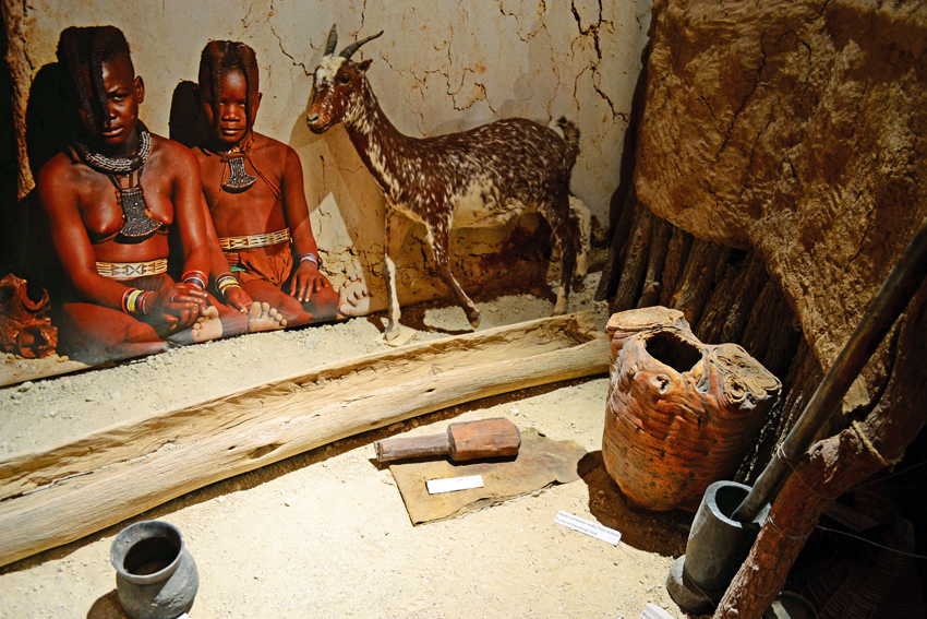 Himba display at the Owela museum ©Ron Swilling Museums Windhoek