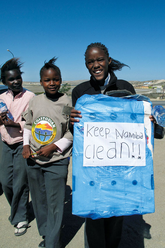 Keep Namibia clean campaign by Ginger Mauney
