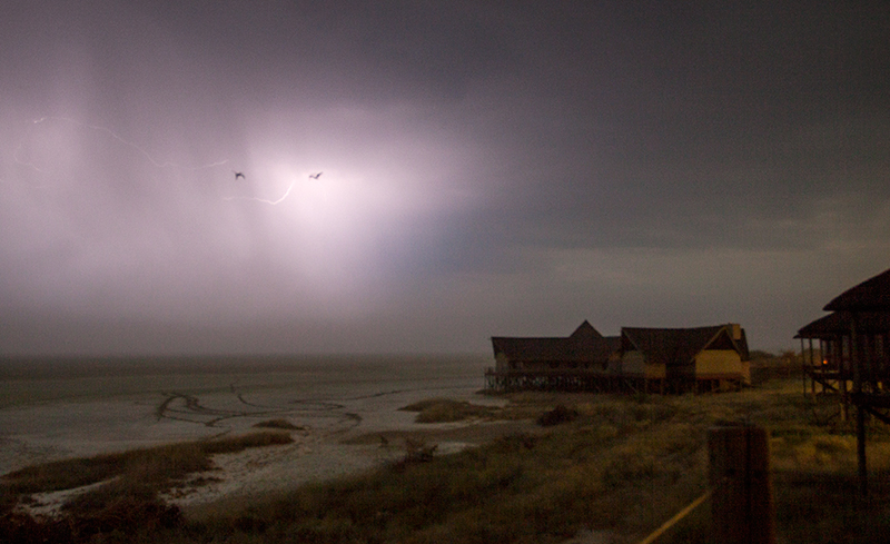 Lightning at Midnight, Onkoshi-camp. Photo ©Annabelle Venter
