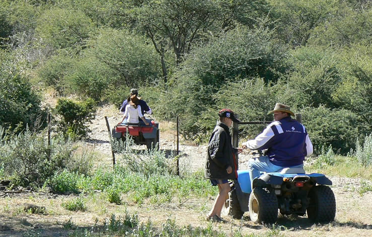 Otjiterazu Guest Farm quad biking