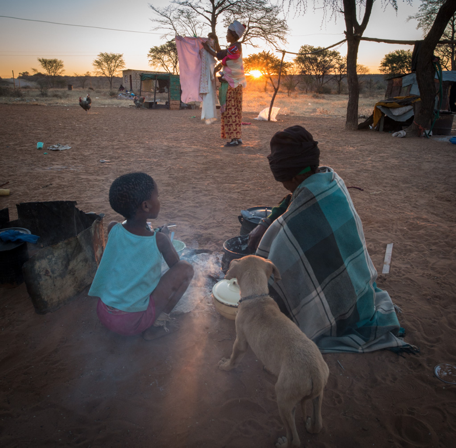Poverty is rife in the Bushmen community - and health care access remains a challenge.