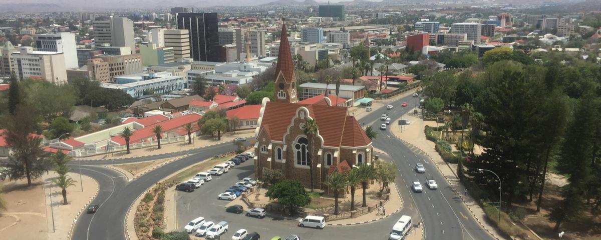 Christus Kirche, Windhoek, view
