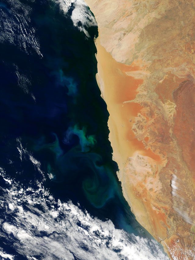 Benguela current visible earth