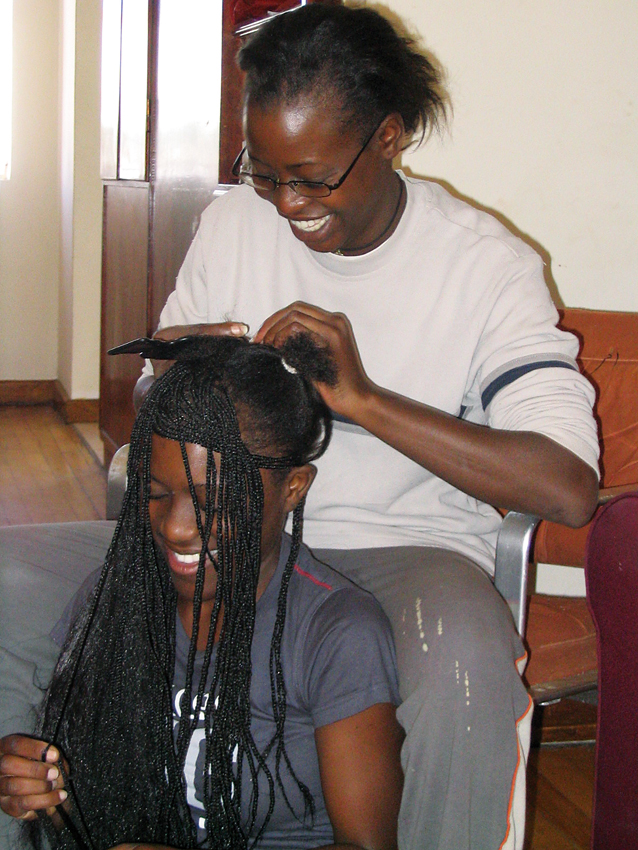 braids hair braiding people person
