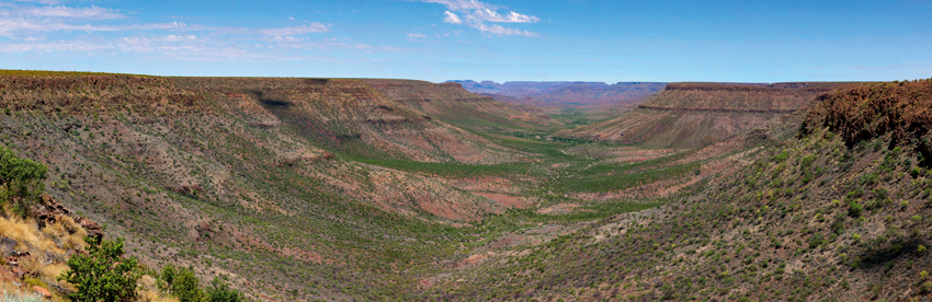 Panoramic view from Grootberg Lodge. Photo ©Christie Keulder