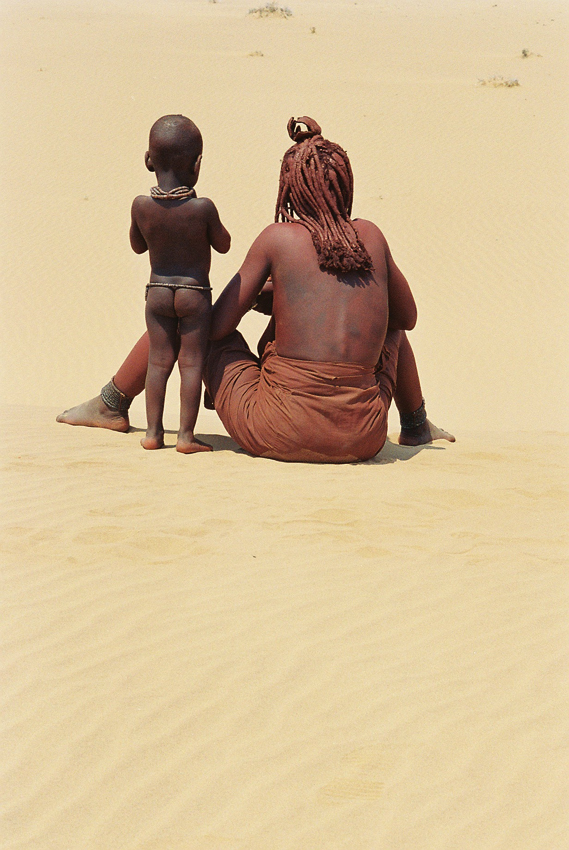 Himba woman and child. Photo ©Ron Swilling