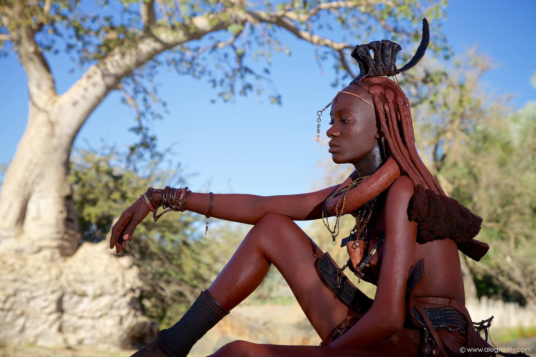 Documenting the Himba. Photo ©Alegra Ally