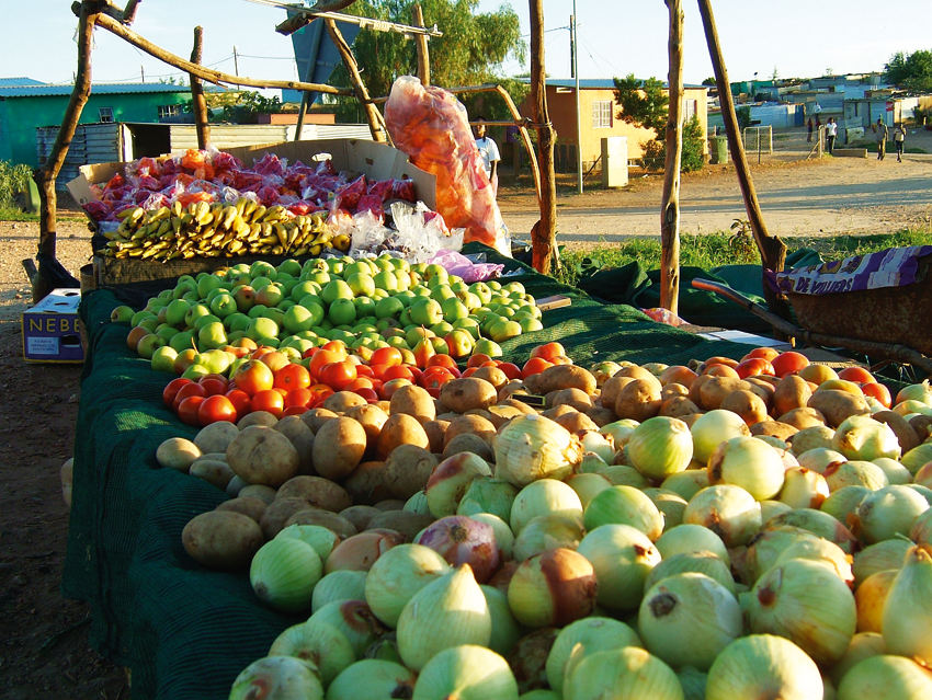 Katutura fruit and veggie stall