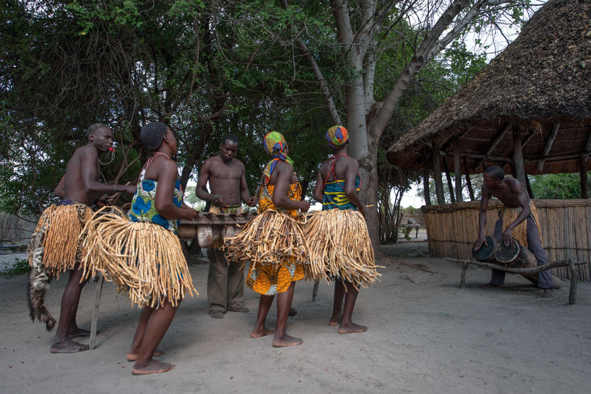 Traditional dancing of the Mafwe.