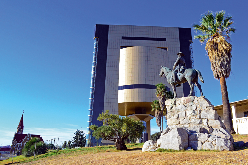 The Reiterdenkmal and Independence museum building ©Ron Swilling Museums Windhoek