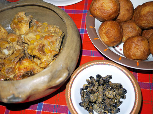 Traditional Namibian cuisine.