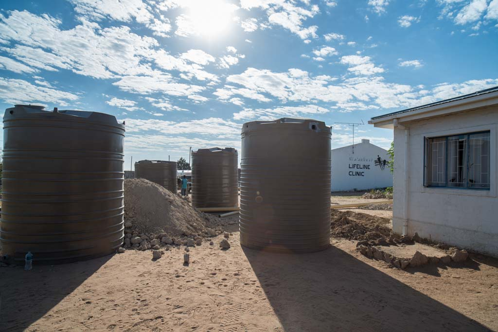 The water tanks