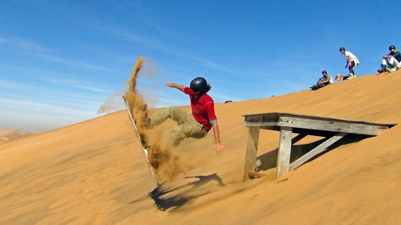 Simon's jump. Play. Namibia. Photo By Simon - The Nomadic Diaries