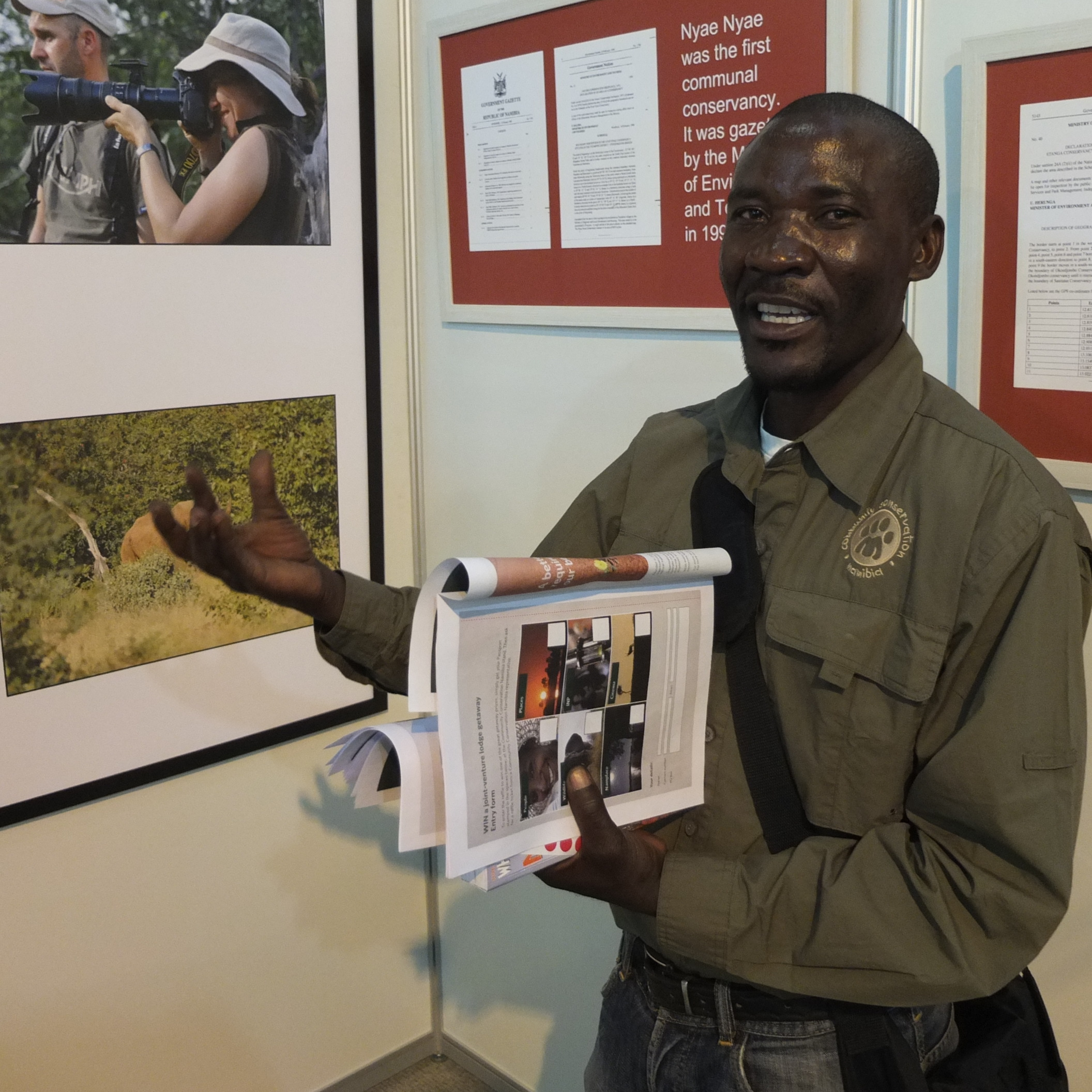 Conservancy stand at the the 2013 Tourism expo in May.