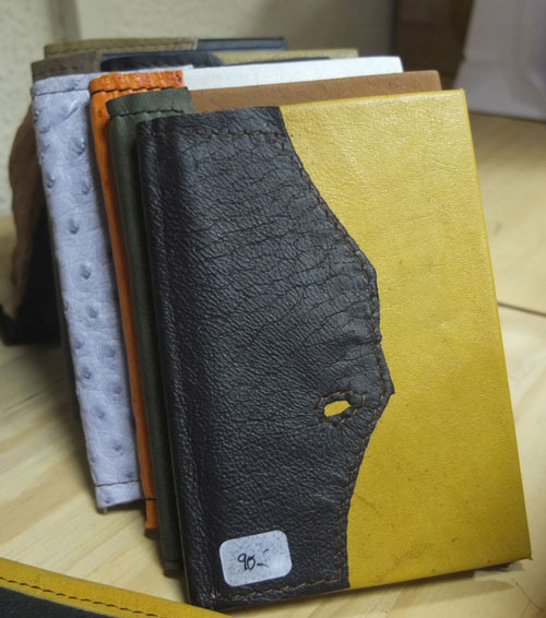 Leather covered pocket notebooks