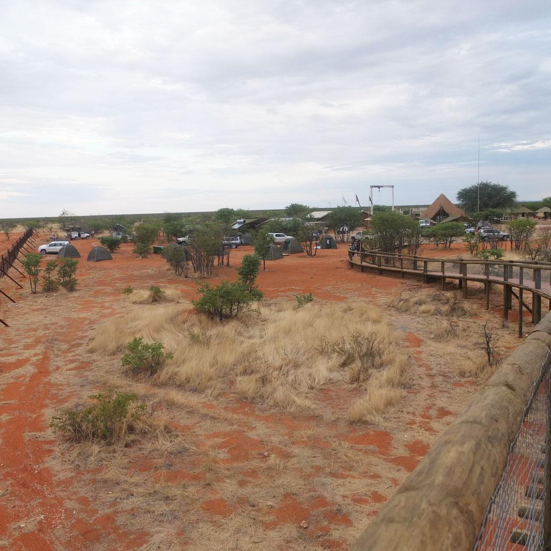 View of the campsite at Olifantsrus, Etosha. Photo ©Jana-Mari Smith