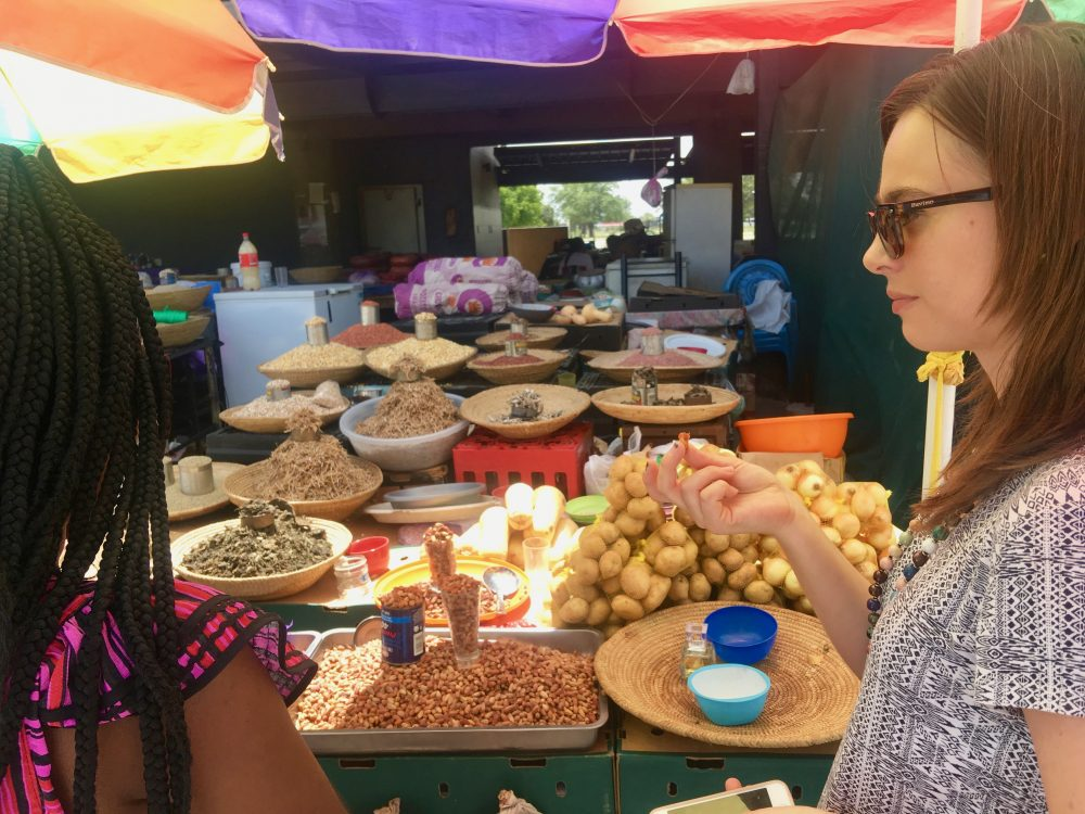 At an open market in Owambo
