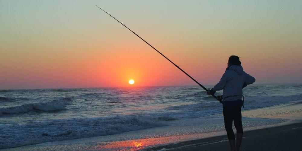 Fishing, beach, sunset, Elzanne Erasmus.