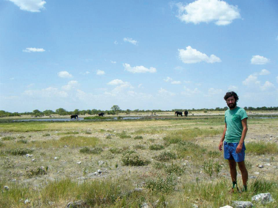 The author and researcher, Lee Hewitson at Etosha National Park.