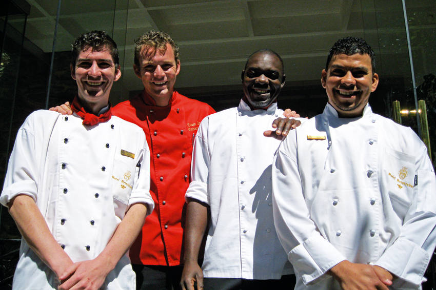 Chefs Nick Diener, Tibor Raith (Executive Chef and General Manager), Matthew Ihinda and Neville Stoffels