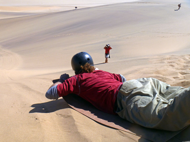 Tummyslide. Namibia. Photo By Simon - The Nomadic Diaries