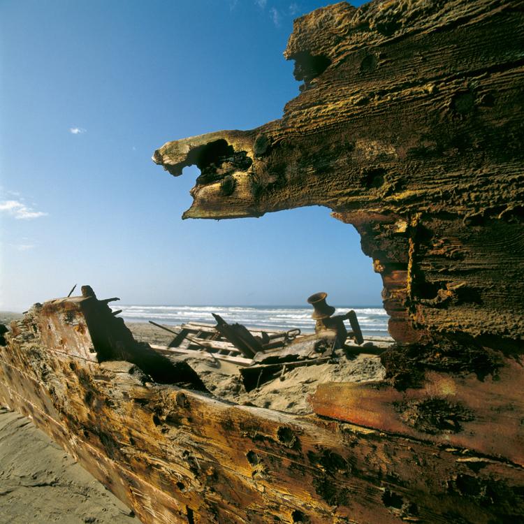 Skeleton coast shipwreck by Amy Schoeman