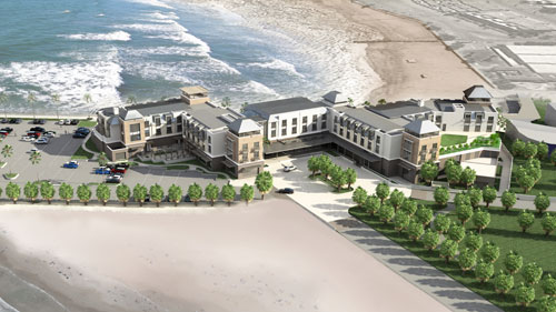 An artists impression of the future hotel.