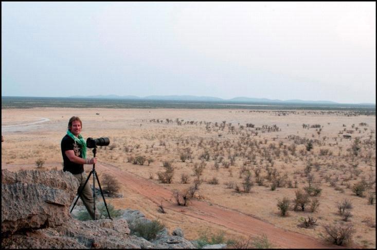 Chrisopher Rimmer in Namibia.
