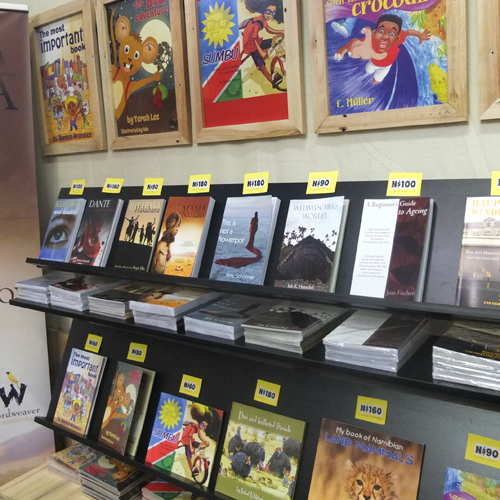Locally produced books at Wordweaver