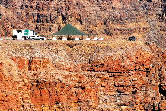 Ultra tents at Fish River Canyon