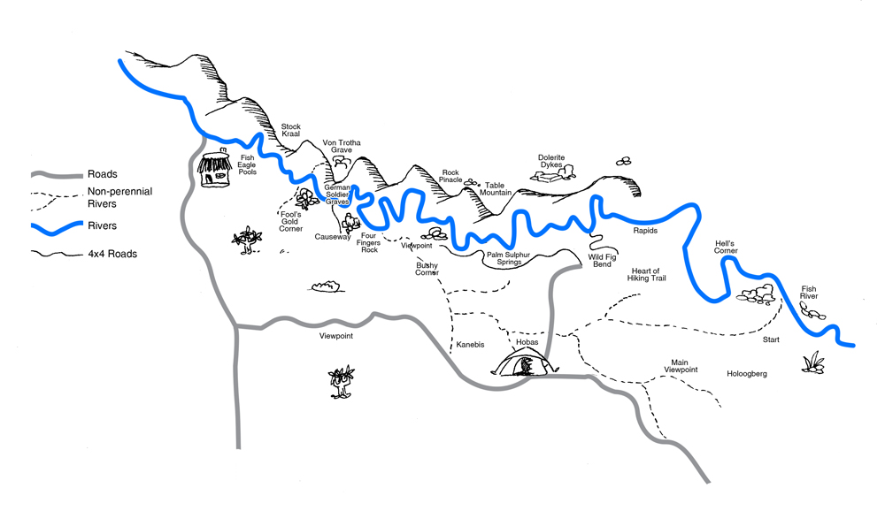 Fish River Trail map