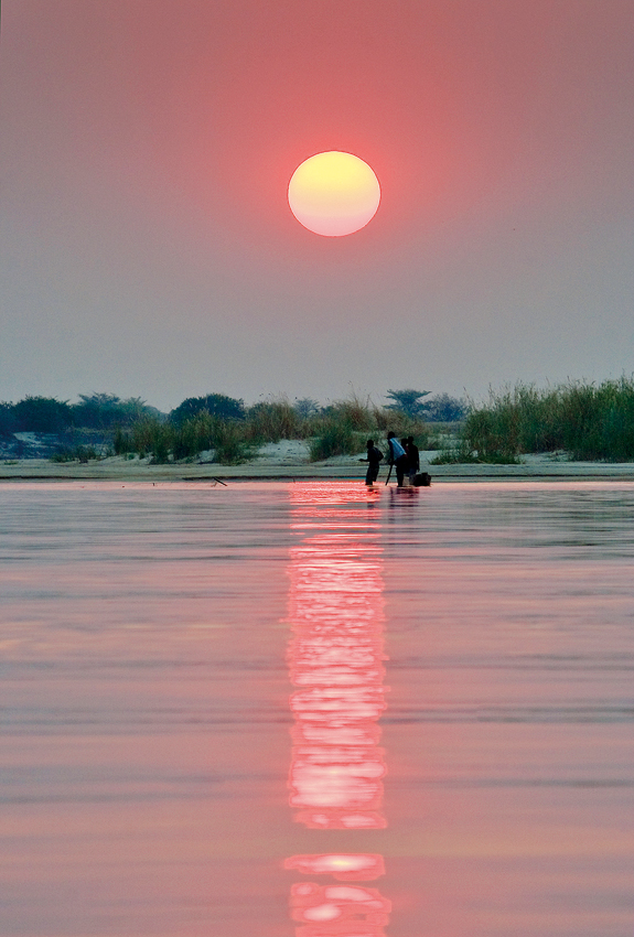 Fisherman on the Okavango river.