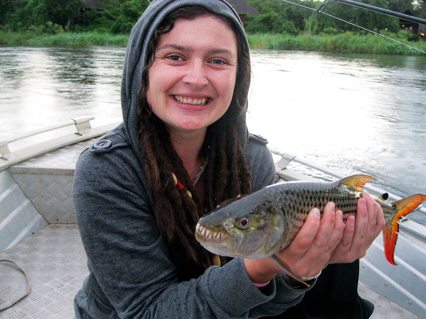 The author with her proud catch.
