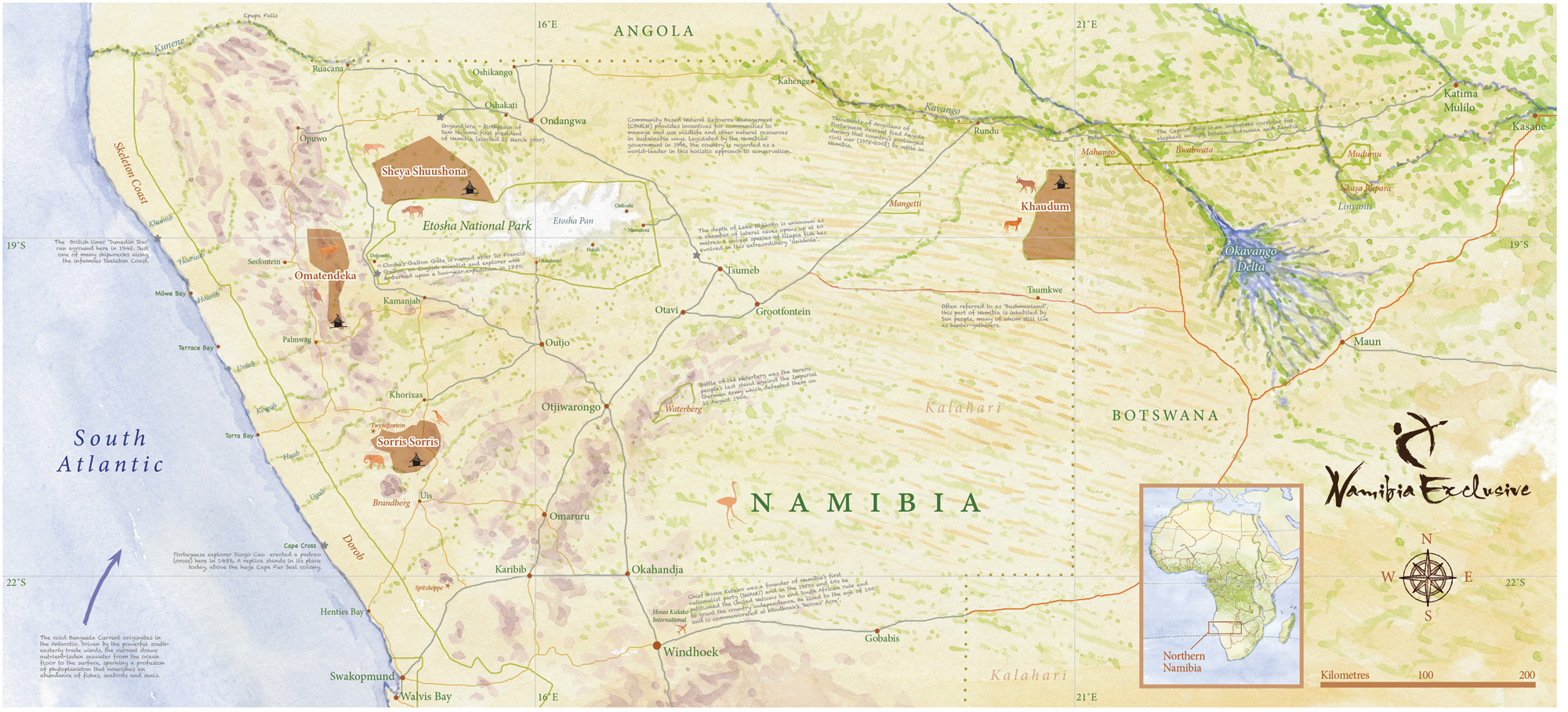 Namibia Exclusive Map