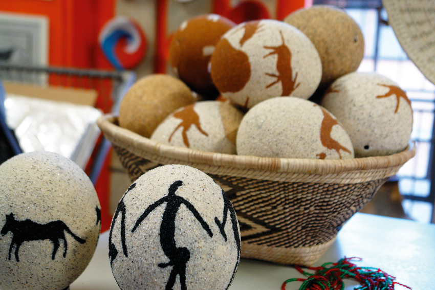 Ostrich eggs, Namibia craft centre